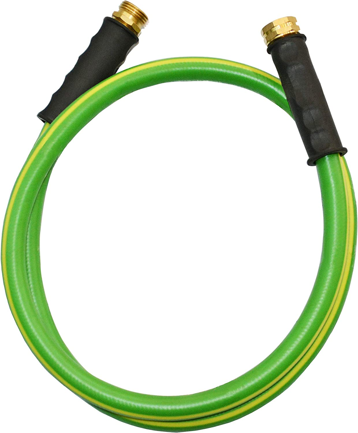 HQMPC Garden Hose Durable PVC Non Kinking Heavy Water Hose with Brass Hose Fittings (5/8