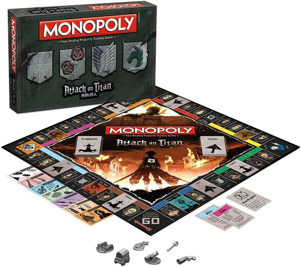 MONOPOLY: Attack on Titan Board Game by USAopoly: Amazon.es: Juguetes y juegos