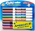 Expo 86601 Low Odour Dry Erase Markers, Fine Tip, Assorted Colours, 8 Count