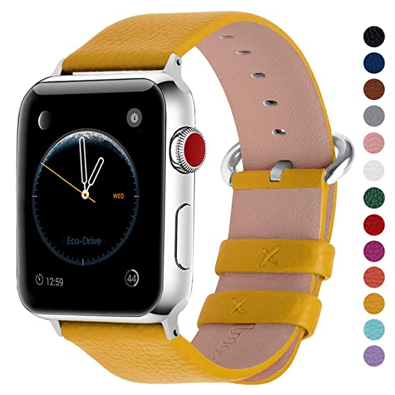 38c6dc047bc Fullmosa Compatible Apple Watch Bands 38mm 40mm 42mm 44mm Women Calf Leather  Compatible iWatch Band Compatible