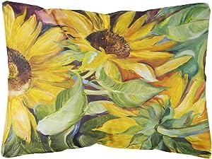 Caroline's Treasures JMK1122PW1216 Sunflowers Canvas Fabric Decorative Pillow, 12H x16W, Multicolor