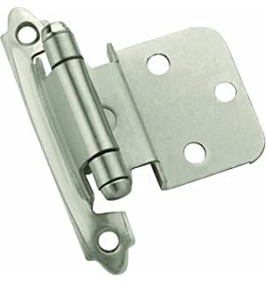 knob satin nickel 25 pack 48 out of 5 stars prime amerock ten3428g10 selfclosing face mount hinge with 38in10mm
