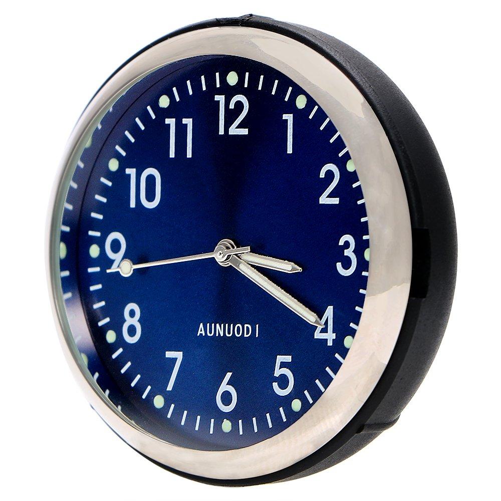 Inté rieur de voiture Dé cor Horloge lumineux Tableau de bord Ornement Bleu NOPNOG