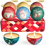 LA BELLEFÉE Scented Candles, Aromatherapy Candles, Natural Soy Wax Candles, Holiday Christmas Gift Set, Tree Decorated Ball,