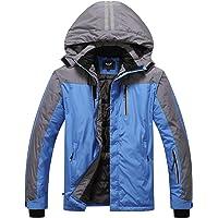 Heihuohua Men's Waterproof Ski Snowboard Jacket Windproof Fleece Lined Outdoor Hiking Coat