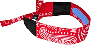 Radians RCS107 Arctic Skull Cooling Headband, Red Paisley
