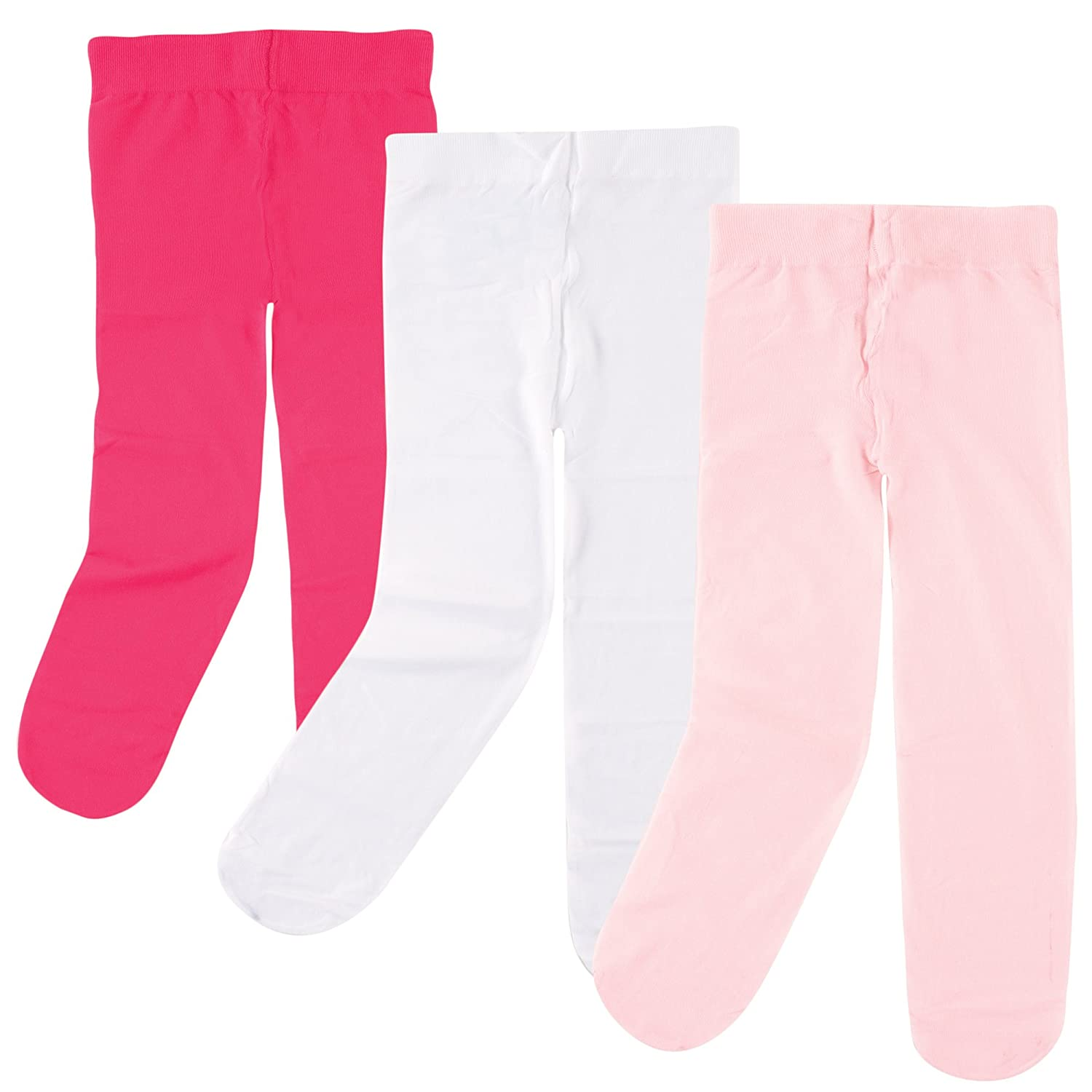 Luvable Friends baby-girls Baby Nylon Tights, 3 Pack 1505