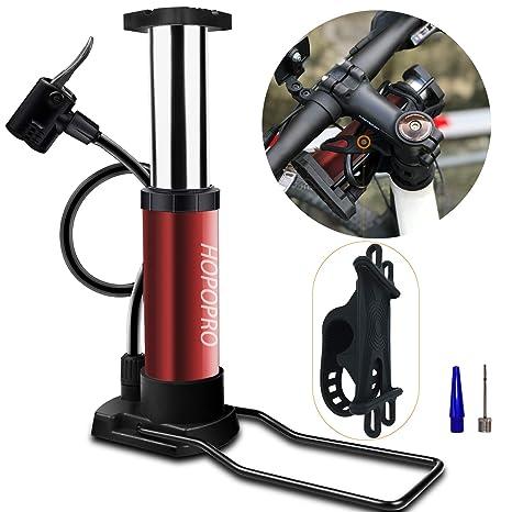 Hopopro - Bomba de aire portátil para bicicleta, bomba de suelo ...