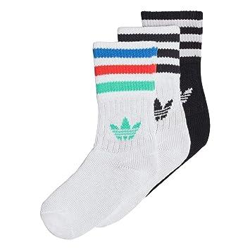Adidas Crew So Kids 3P Calcetines, Unisex bebé, (Blanco/Negro / vealre), 15/18: Amazon.es: Deportes y aire libre