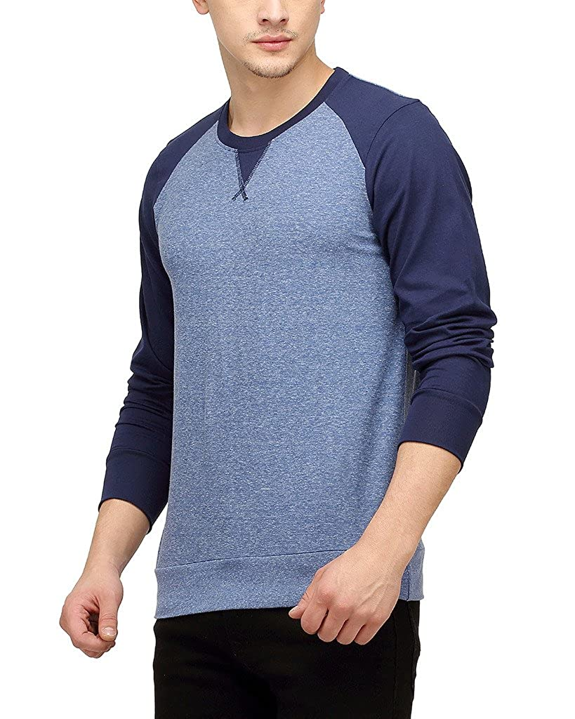 aa9f266a2 Campus Sutra Men Round Neck Raglan Full Sleeve T-Shirt  Amazon.in  Clothing    Accessories