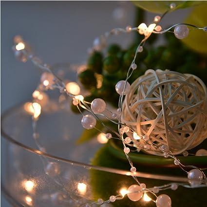 miarhb led fairy string lights197ft6m 40leds pearl string lights christmas garden