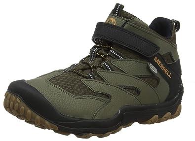 31853d85a5868 Amazon.com | Merrell Boys' Chameleon 7 Mid A/C WTRPF Hiking Shoe ...