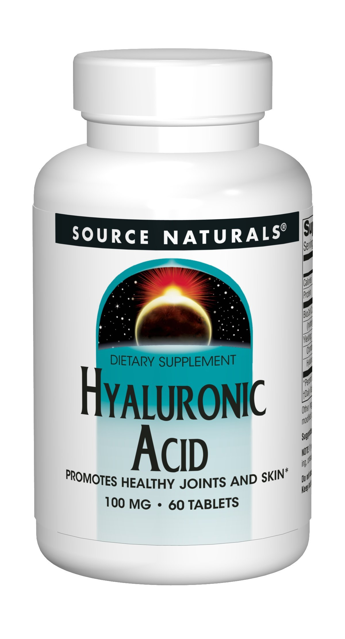 Source Naturals Hyaluronic Acid 100mg - 60 Tablets