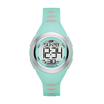 Amazon.com: Skechers Womens Tennyson Quartz Metal and Silicone Digital Watch Color: Silver, Mint Green (Model: SR2016): Watches