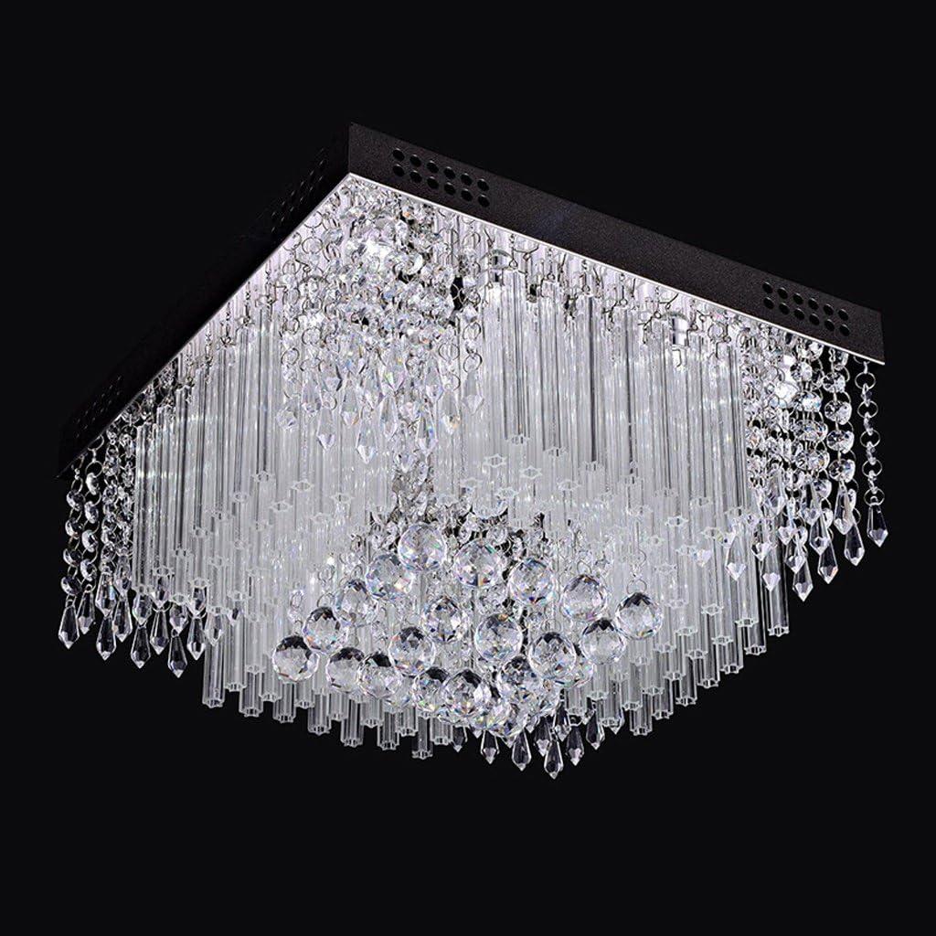 ZXW Moderno Led Lámpara De Cristal Lámpara Cuadrada Sala De