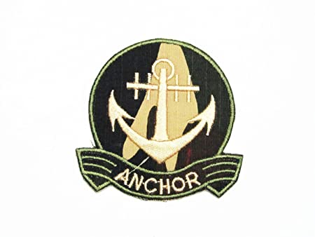 Anchor nautical boat ship marine embroidered iron on applique patch