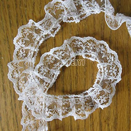 10 metres KNIT IN LACE   White