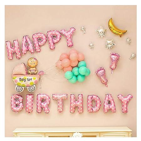 Decoración de cumpleaños, globos con letras de FELIZ ...