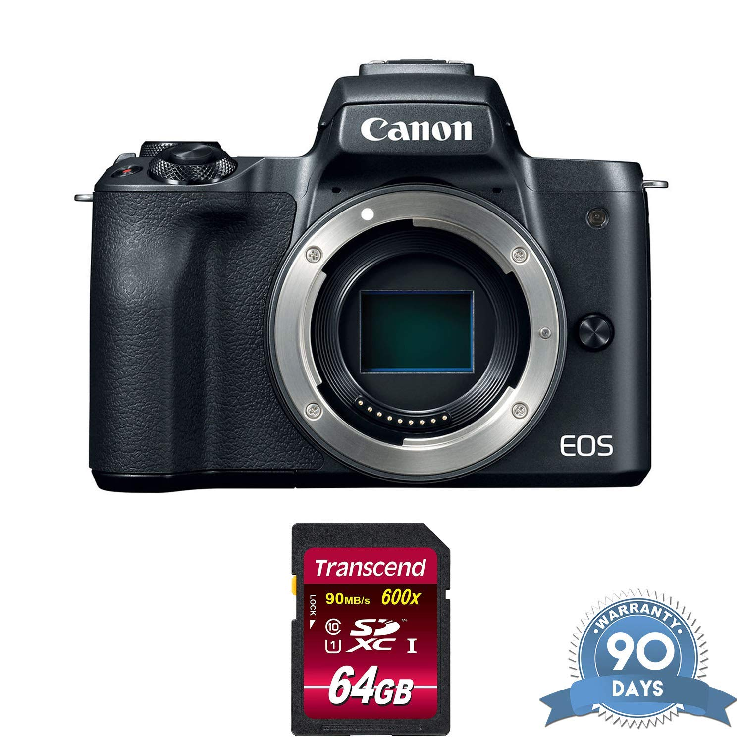 Canon EOS M50 Mirrorless Digital Camera (Body Only, Black) with Memory Card - (Renewed) by Canon