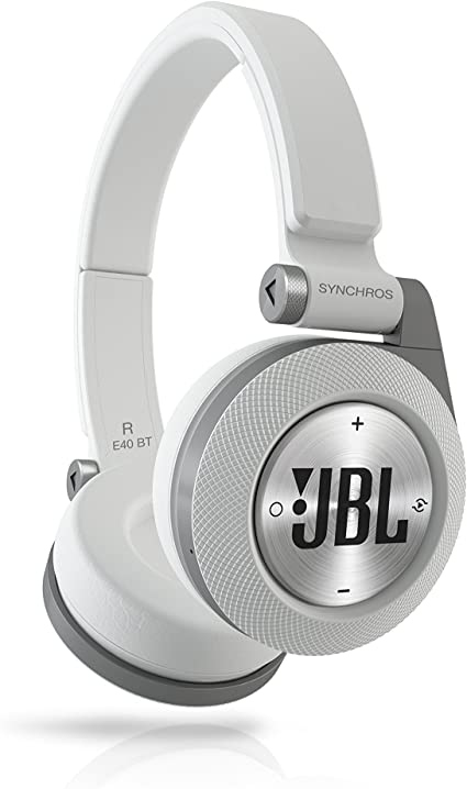 Amazon Com Jbl E40bt White High Performance Wireless On Ear Bluetooth Stereo Headphone White Electronics