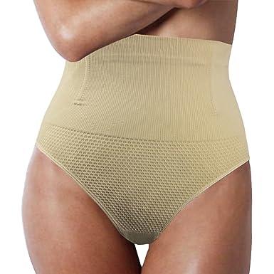 93d1ec33c Shymay Women s Tummy Control Thong High Waist Seamless Shaping Thong  Shapewear