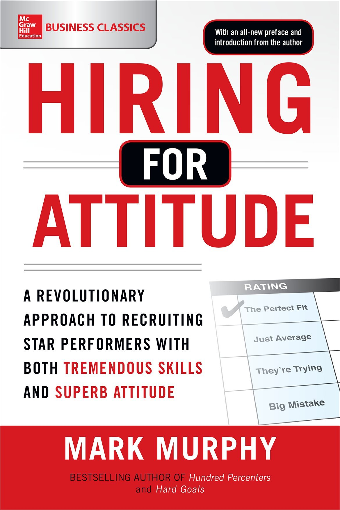 Hiring for attitude a revolutionary approach to recruiting and hiring for attitude a revolutionary approach to recruiting and selecting people with both tremendous skills and superb attitude mark murphy falaconquin