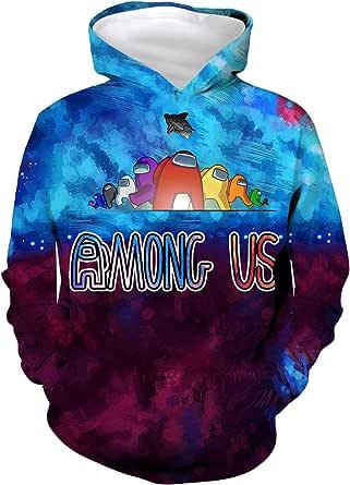 Kv mvav Among Us 3D Printing Hoodie Sweatshirt Boy and Girl Casual Streetwear