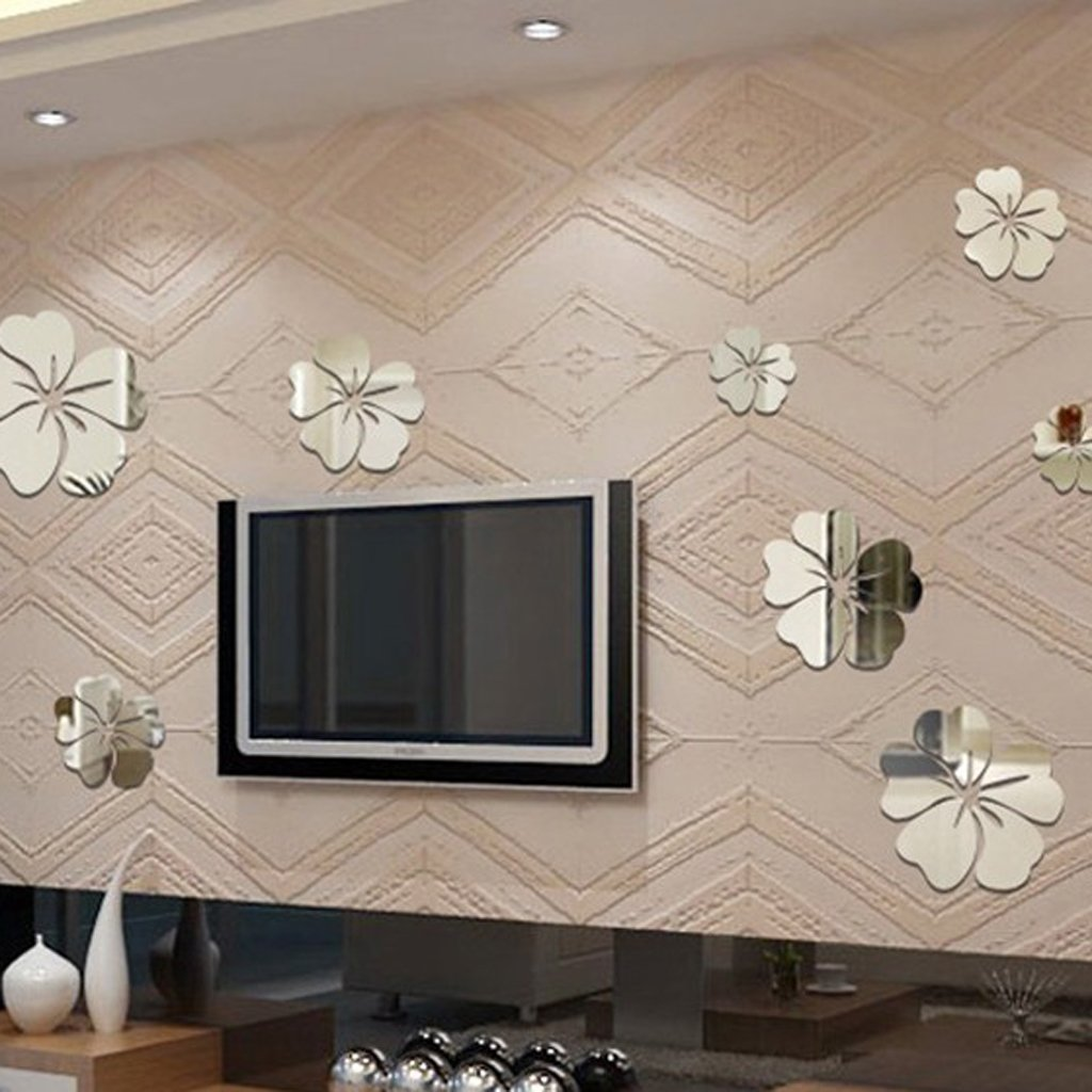 Acrylic Mirror Effect D Wall Decals Flower Shaped Mirrors - Wall decals mirror