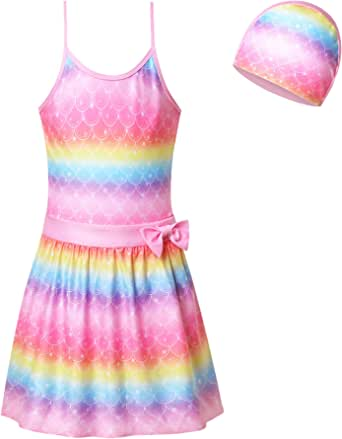 Mirwise Girls One Piece or Two Pieces Swimsuits Swimwear Bathing Suit Sets 2-11Y