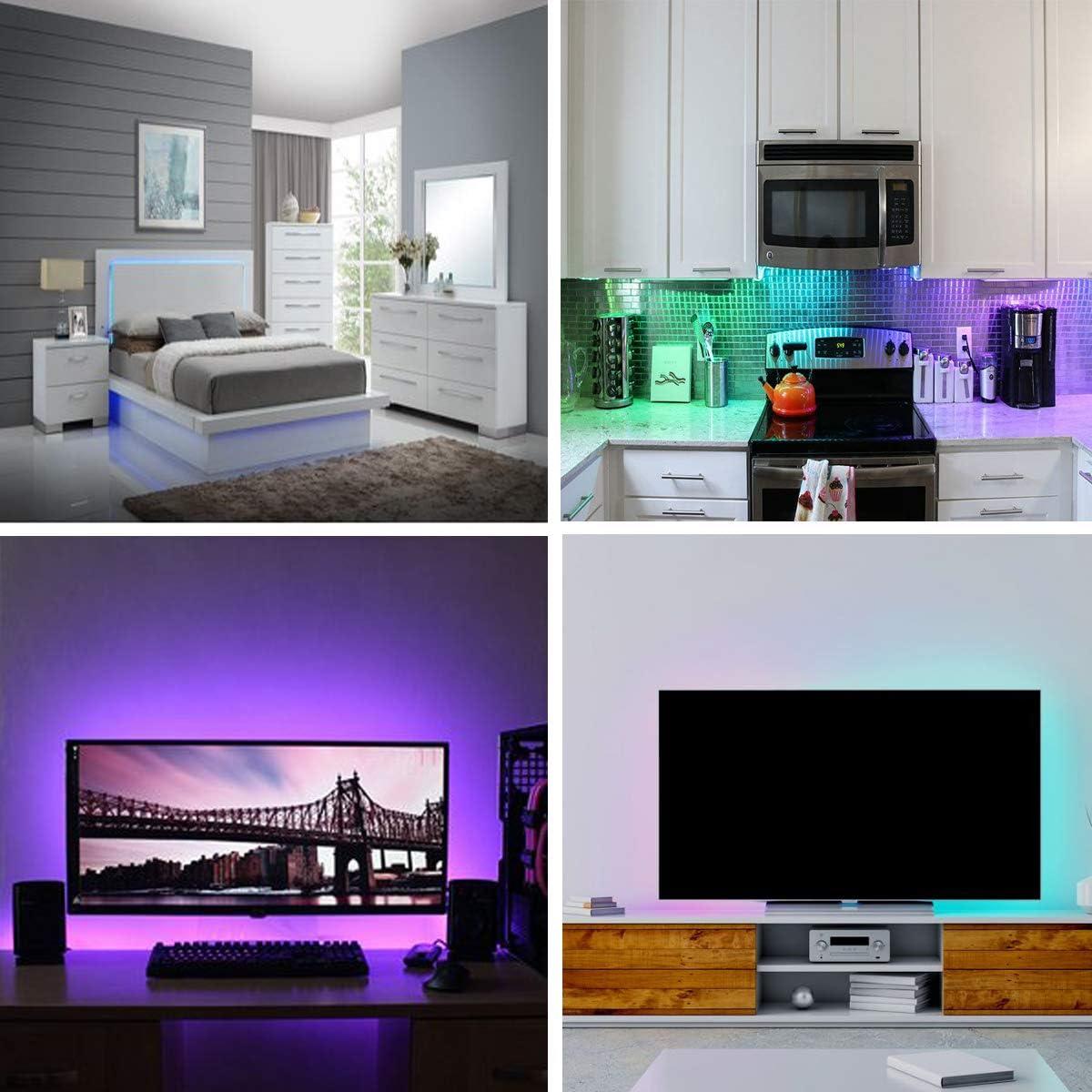 Tira LED detrás de la luz LED de la TV 2 m Tiras LED TV Retroiluminación para 32 – 60 pulgadas HDTV bies iluminación USB Powered luz tira 20 colores IR remoto: Amazon.es: Iluminación