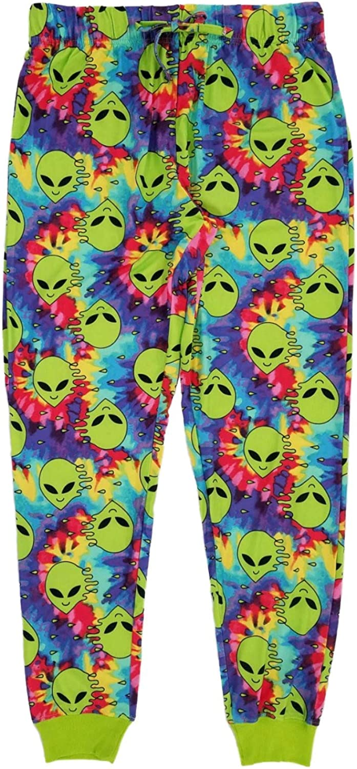 Mad Engine Men's Tie Dyed Aliens Jogger Style Sleep Lounge Pants Pajama Bottoms