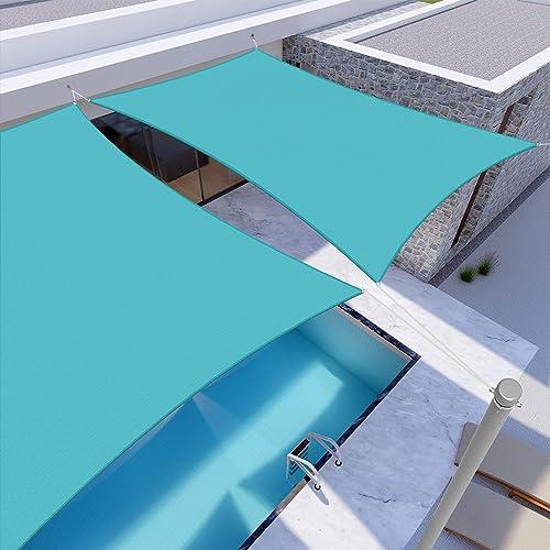 Windscreen4less Terylene Waterproof Sun Shade Sail UV Blocker Square Sunshade Patio Canopy Sail 20' x 20'