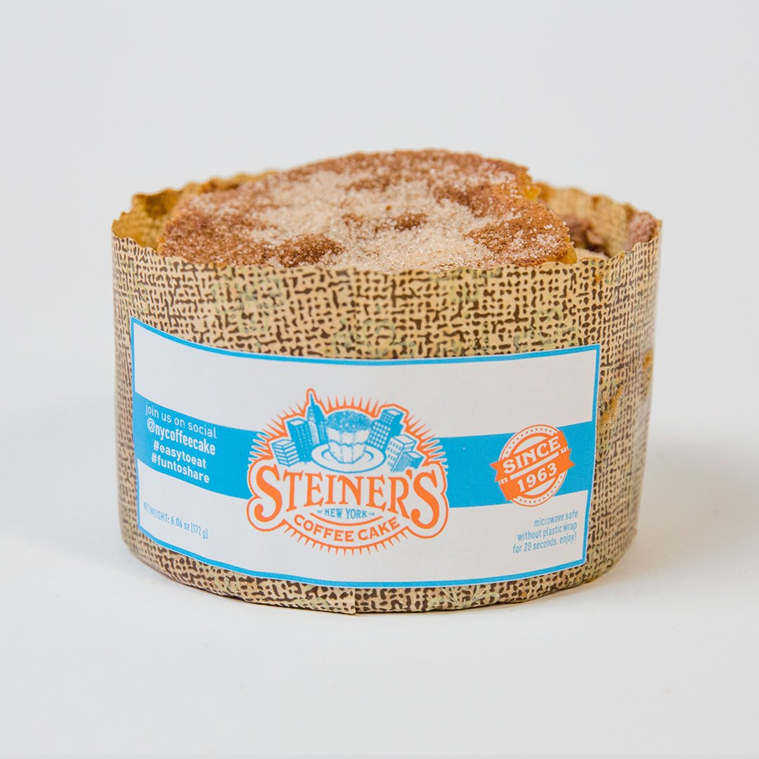 Steiner's Coffee Cake of New York 31.2 oz, 4 Individual Cakes, 2 Servings Each, Incredibly Delicious, Naturally Gluten Free, $5 Per Cake, Consumer Tested, Gourmet and Homemade Approved