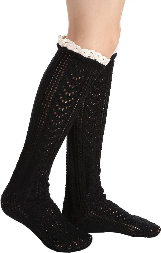 Avidlove Women Button Lace Knit Wool Boots Cuffs Short Socks Leg Warmers