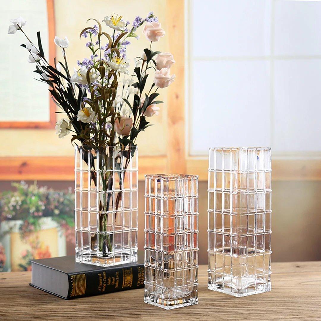 YKFN シンプル 現代 花瓶 インテリア 新築祝い 結婚祝い 花器 ガラス 北欧雑貨 ギフト おしゃれ フラワーベース お洒落 クリスタル 贈り物 アレンジメント B06WGR27GG   口径10x高さ40cm