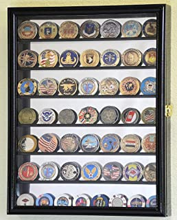 product image for Mirrored Back Military Challenge Coin Display Case Cabinet Holders Rack w/UV Protection