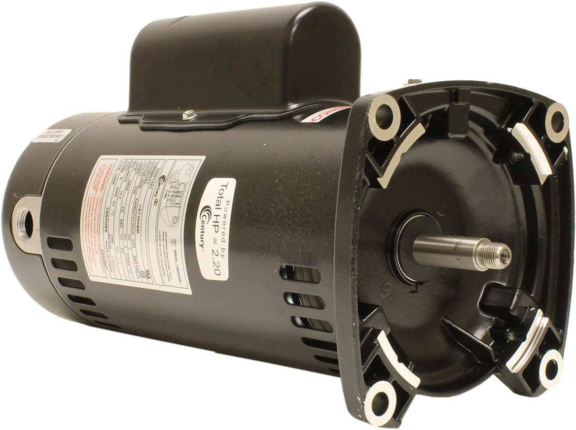 C-Face Pool Motor Century Electric//AO Smith Motors Co Smith ST1052 1//2 HP 3450 RPM A.O 1.6 Service Factor 56J Frame Capacitor Start ODP Enclosure