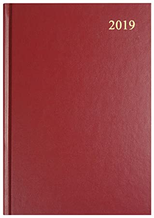 Collins Essential A5 1 Day per page 2019 Diary - Maroon