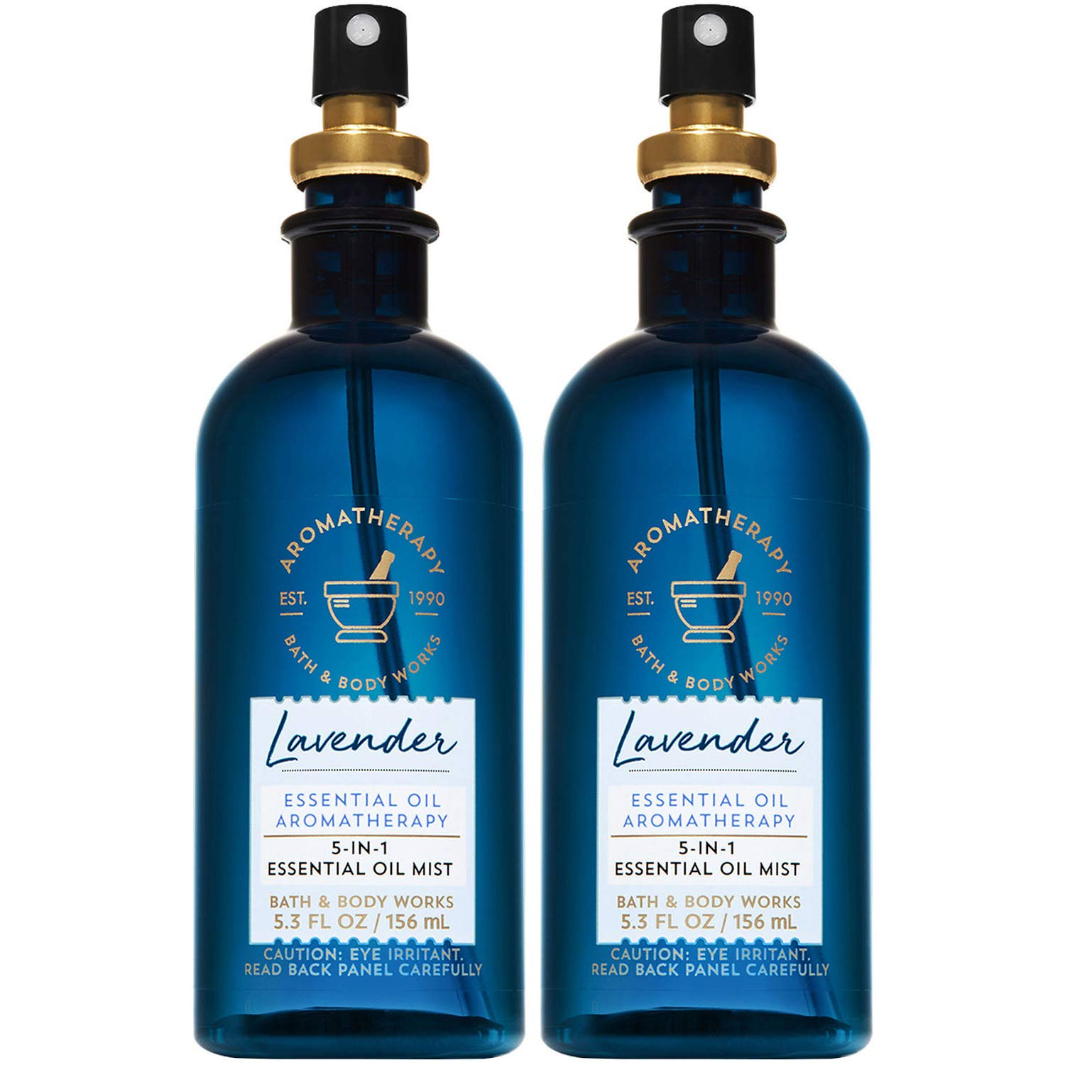 Bath and Body Works Aromatherapy LAVENDER 5-in-1 Essential Oil Mist 5.3 Fluid Ounce, 2-Pack by Bath & Body Works