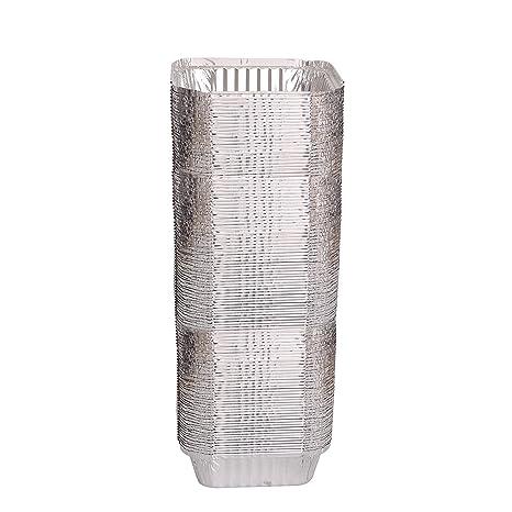 "Desechables resistente aluminio Oblong Foil Pan contenedores 1 libra capacidad, 5.56 ""x 4.56"""