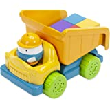 Educational Insights Bright Basics Dumpty Truck, Play Truck With Blocks, Fine Motor Skills, Toddler Toys, Ages 2+