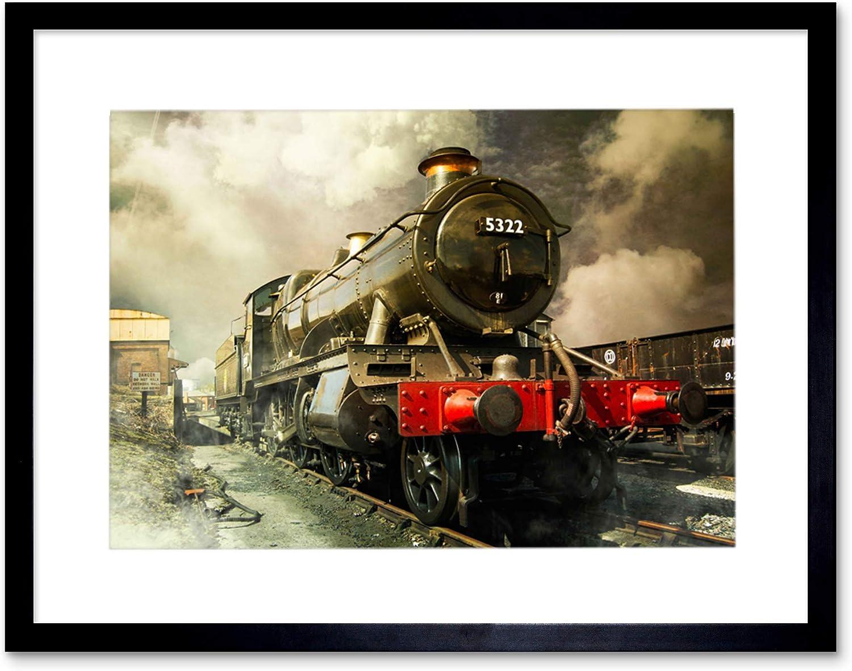 Amazon Com Steam Train Vintage Colour Photo Framed Art Print