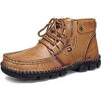 gracosy Zapatos de Cuero para Hombre Invierno 2020 Real Cuero Chukka Trekking Zapatos Planos Botines Mocasines Casual…