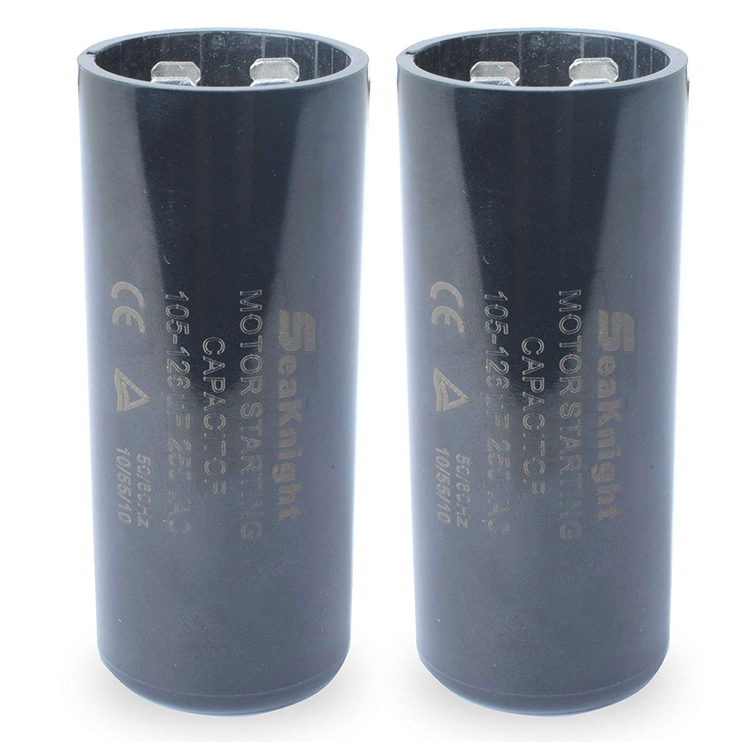 105-126 uf MFD Capacitor 220-250VAC,Motor Start Capacitor Replacement for Franklin 1HP, 1.5hp and 2HP Well Pump Control Box Pack of 2