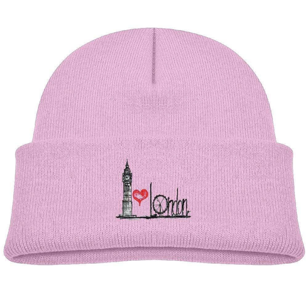 32a14bfcf476f Knit Hat Graffiti Love London Baby Beanies Caps Unisex Baby Warm ...