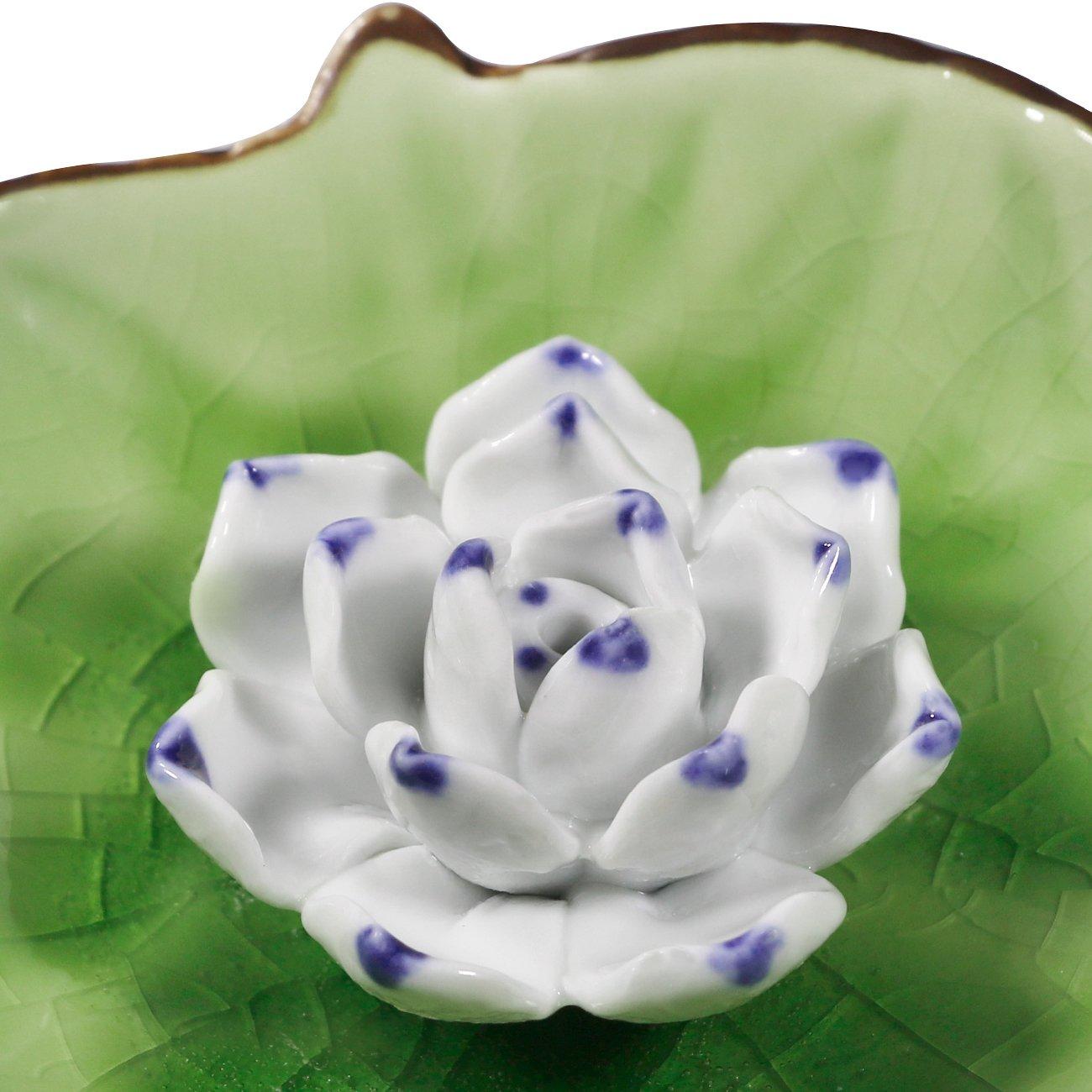 Epfamily incense stick burner holder handmade ceramic lotus flower epfamily incense stick burner holder handmade ceramic lotus flower incense burner bowl ash catcher tray plate izmirmasajfo