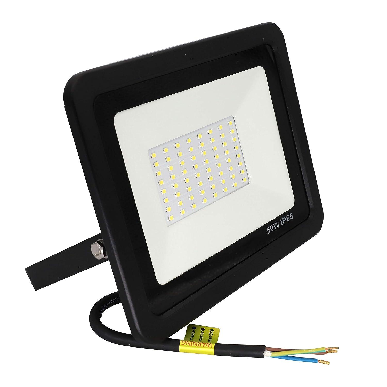 Popp Floodlight Led Foco Proyector Led 50w para Exterior Iluminación Decoración 6000k luz fria Impermeable IP65 Negro (50)