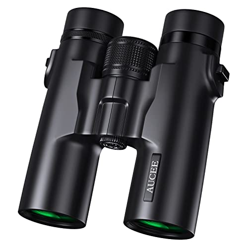 AUCEE 10x42 Binoculars for Adults, Professional HD Compact Waterproof and Fogproof Binoculars for Bird Watching Hiking Travel