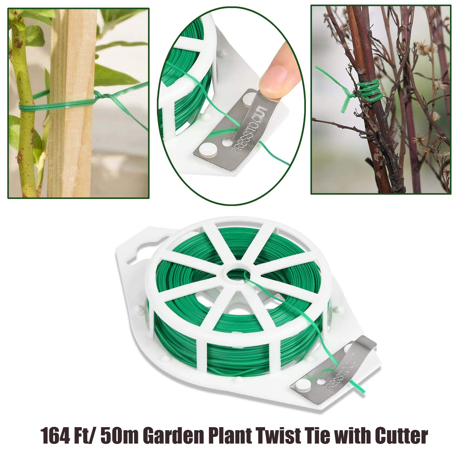 20x Green Garden Plant Clips Set Spring Support Ties Spring House Plant Holder