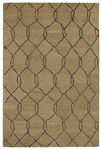Kaleen Rugs Casablanca Collection CAS02-82 Lt. Brown Hand Tufted 8 x 11 Rug
